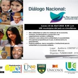 Dialogo Nacional: La Paz necesita una Economía más solidaria